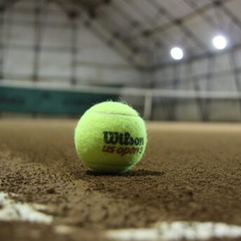 Tennis Ball and Court